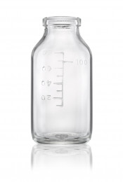 Type I infusion bottle plain neck with marking