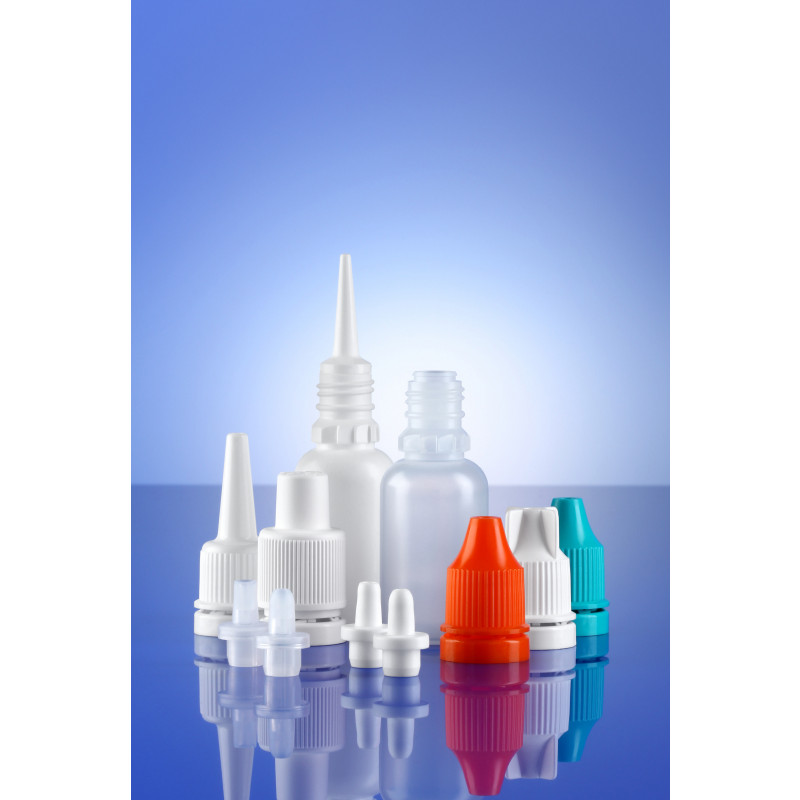 Accessoires for dropper bottles System A plastic bottles for ophthalmics