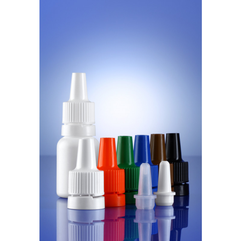Accessoires for dropper bottles System B plastic bottled for ophthalmics