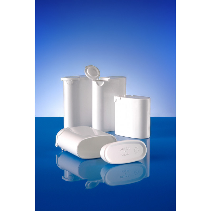Cap or closure for Duma® Pocket plastic container (pharmaceutical packaging) for solids