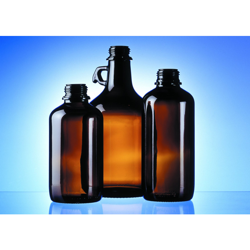 Chemical & technical bottles made of moulded glass for chemistry and pharma