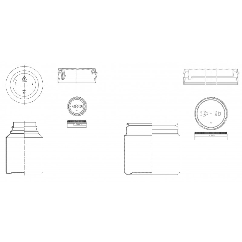 Drawing of Dudektm plastic cap