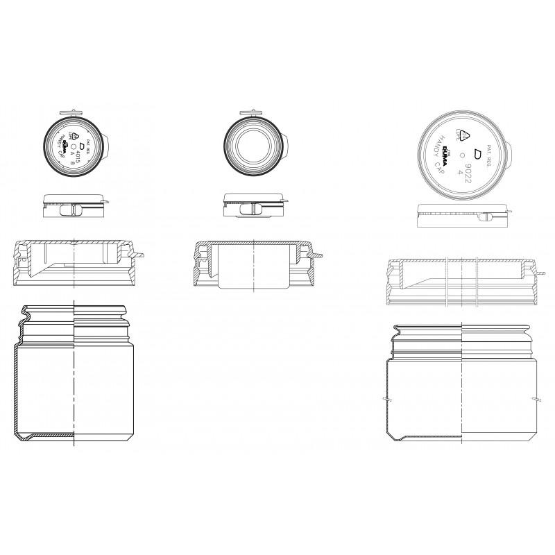 Drawing of Duma® Special plastic cap