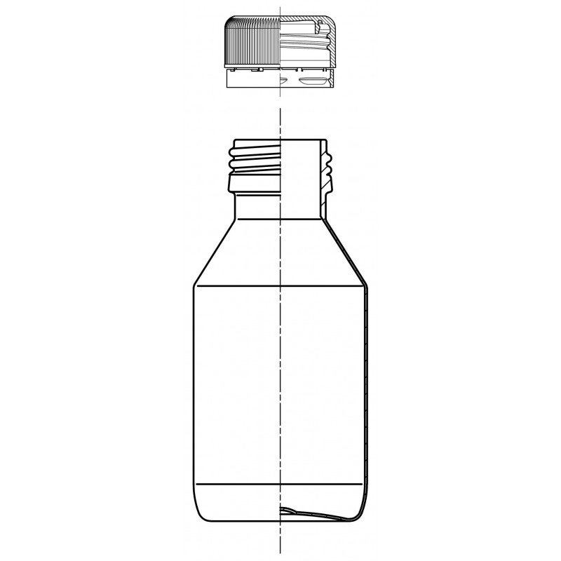 PET PL bottles PP28 neck