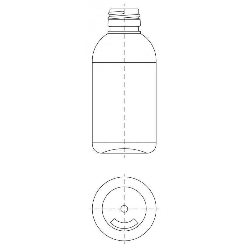 Drawing of ST bottle PP28