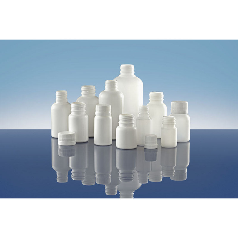Frascos Polietileno PIP 28, Pilfer Proof, embalagens plásticas para produtos farmacêuticos (100ml)