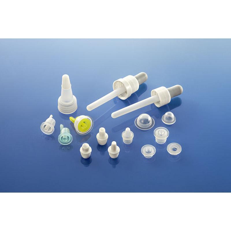 Gotejador para frascos plásticas para produtos farmacêuticos