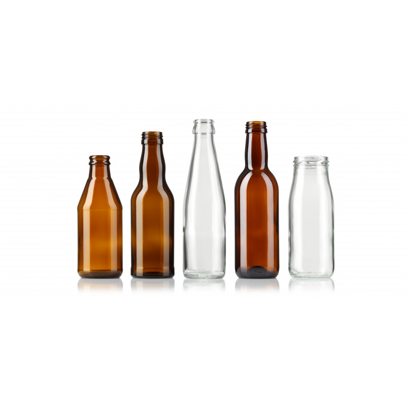 Juice and softdrink bottles made of moulded glass (250ml)