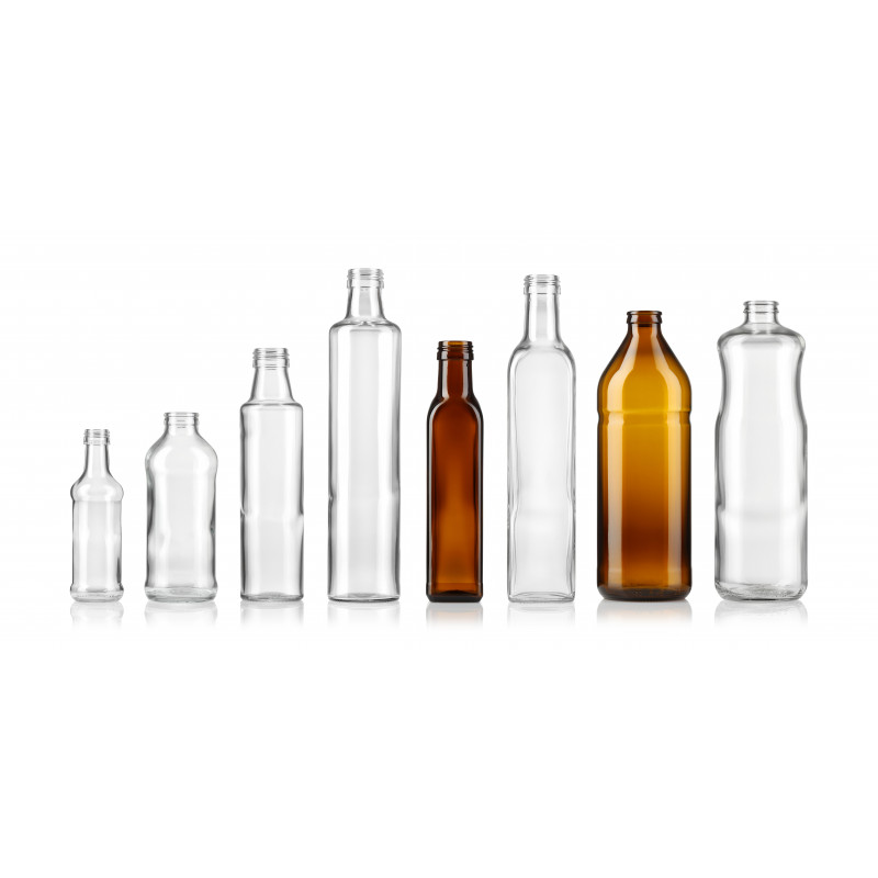 Oil bottles made of moulded glass (750ml)