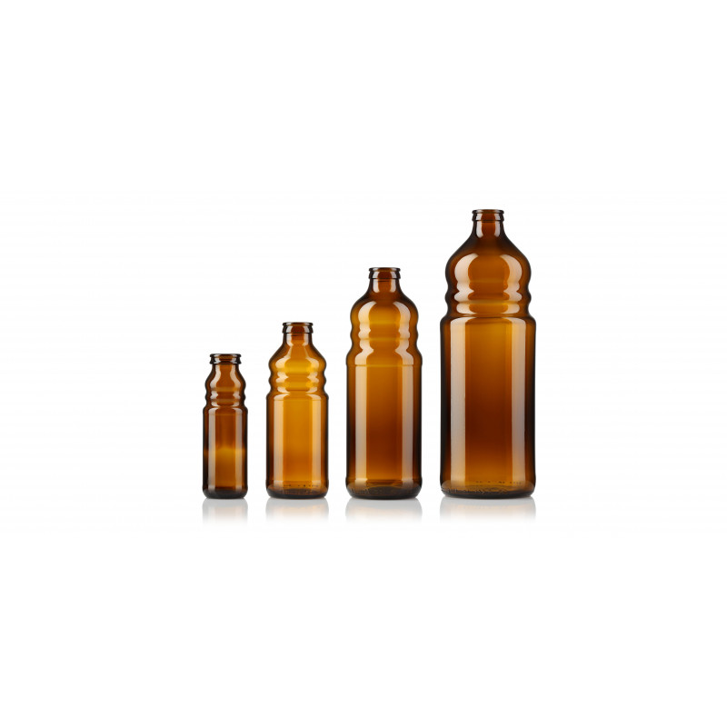 Oil bottles made of moulded glass (100ml)