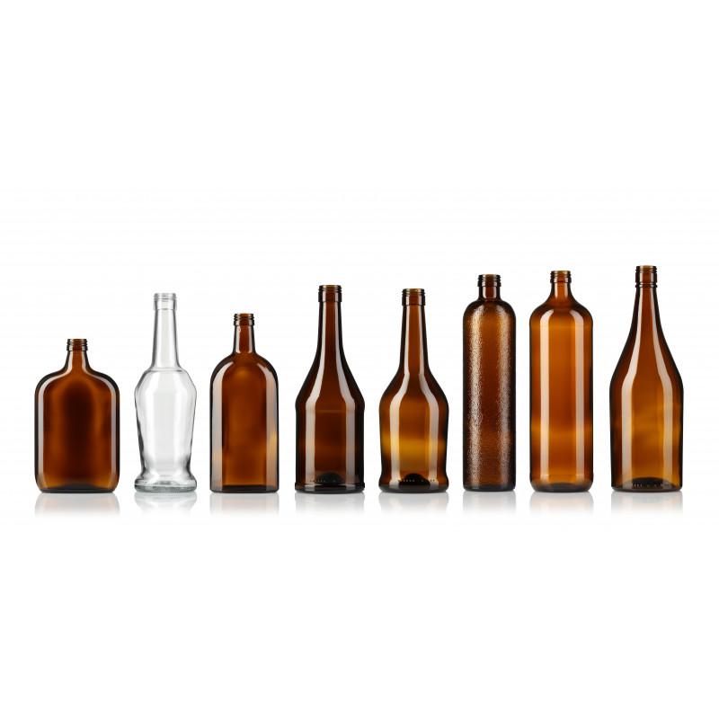 Spirit bottles made of moulded glass (1000ml)