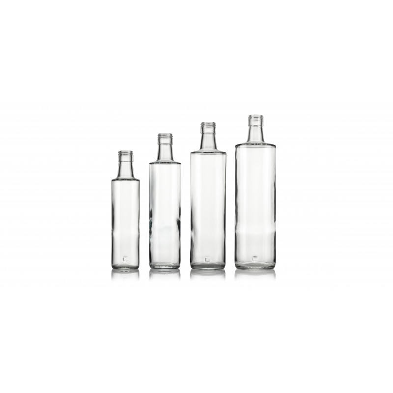 Spirit bottles made of moulded glass (350ml)