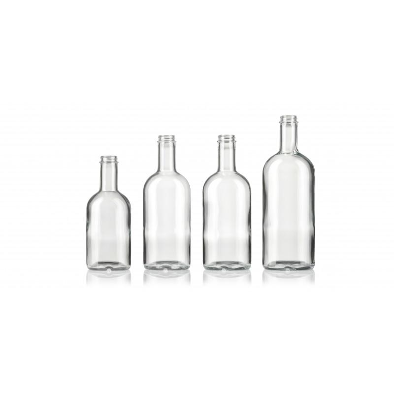 Spirit bottles made of moulded glass (750ml)