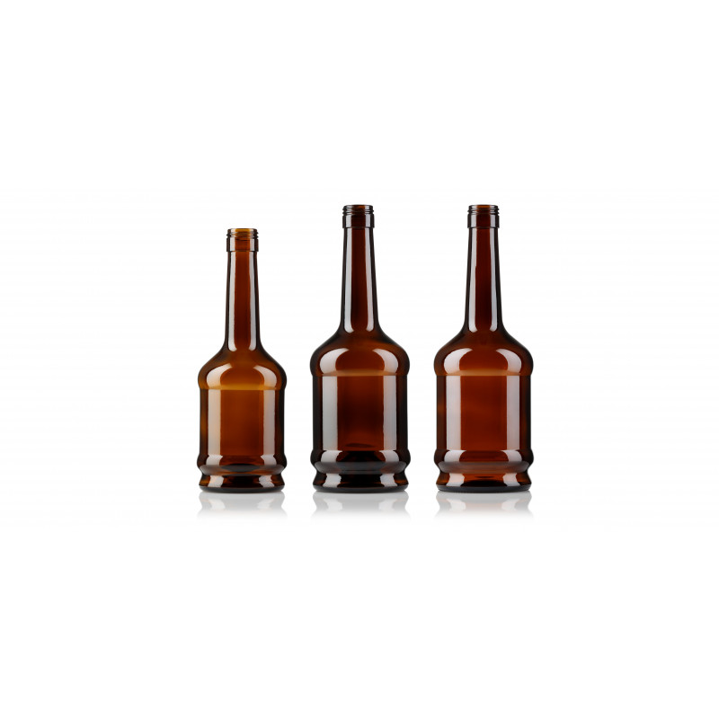 Spirit bottles made of moulded glass (750ml)