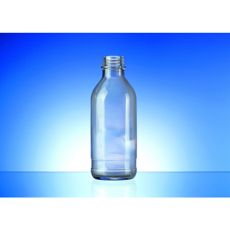 Tranfusion bottle made of moulded glass for pharmaceutical use