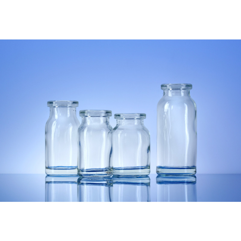 Type III bottles made of moulded glass for pharmaceutical products