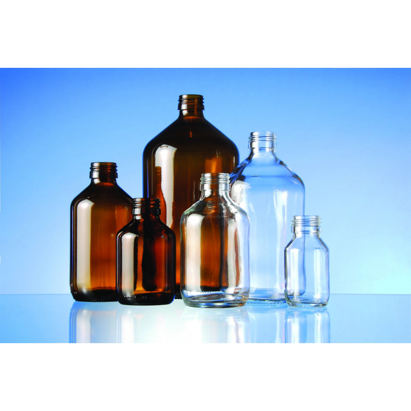 Syrup glass veral bottle made of moulded glass for pharmaceutical use