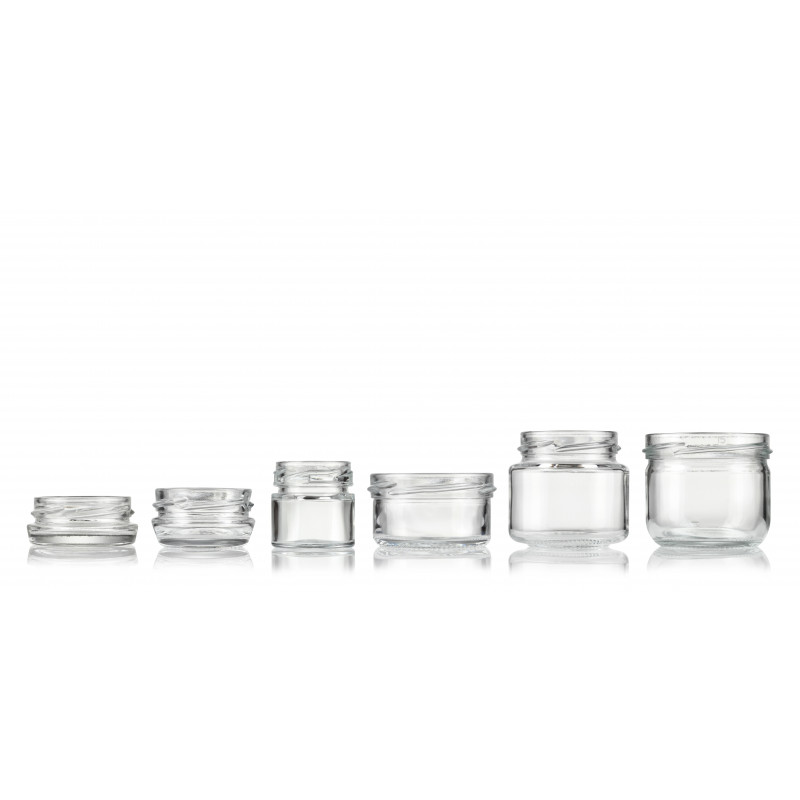 Wide-mouth jars made of moulded glass (30ml)
