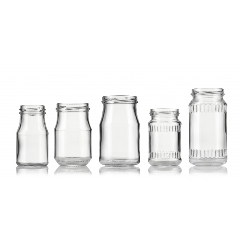 Wide-mouth jars made of moulded glass (100ml)