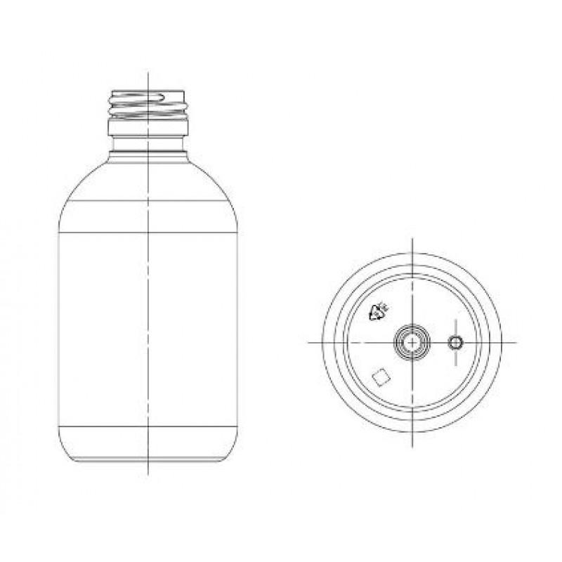 Drawing of OM bottle PP18 neck