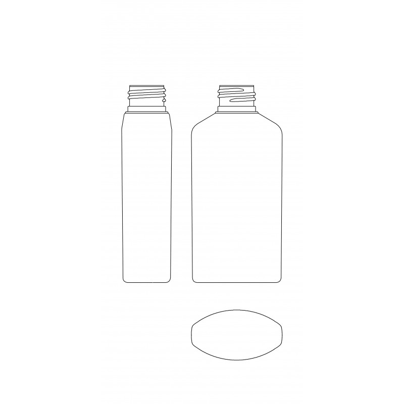 Drawing of DELTA bottle