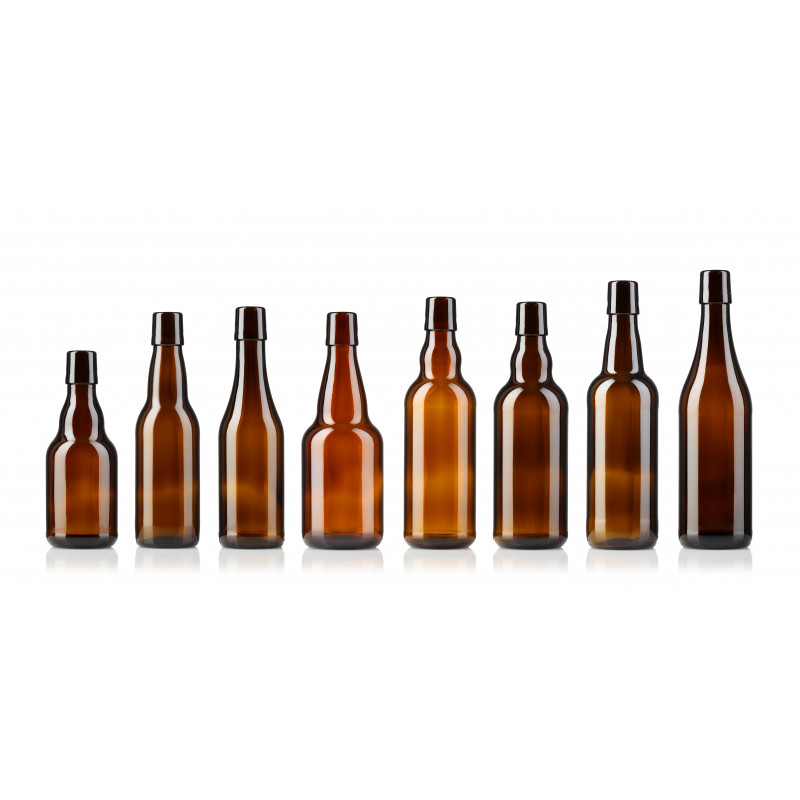 Beer bottles with swing stopper made of moulded glass (330ml)