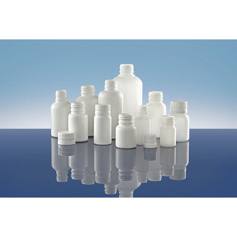 Frascos Polietileno PIP 24, Pilfer Proof, embalagens plásticas para produtos farmacêuticos (100ml)
