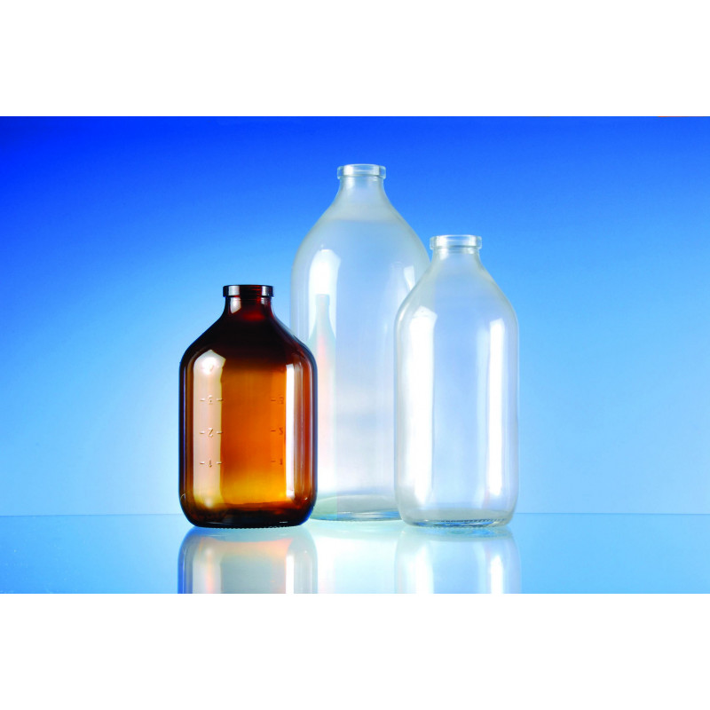 Infusion bottles made of moulded glass for pharmaceutical use