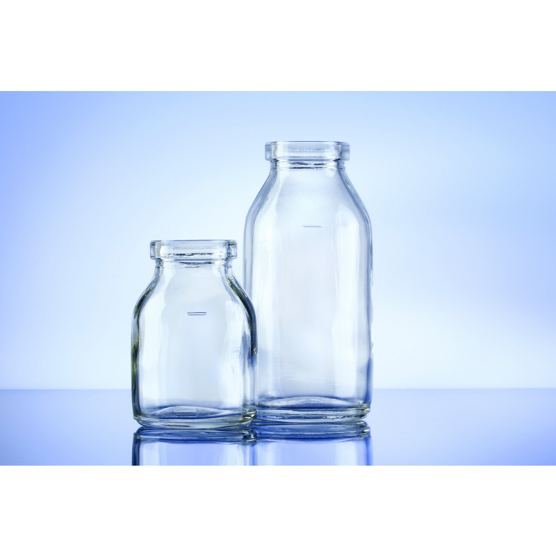 Type I infusion bottles DIN made of moulded glass for pharmaceuticals
