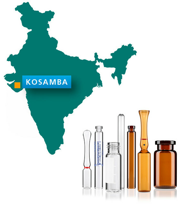 The new plant in Kosamba produces premium-quality Gx vials and ampoules.