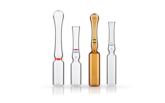 Ampoules made of glass