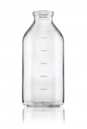 Typ I Infusionsflasche mit Rollrandmündung und Markierung