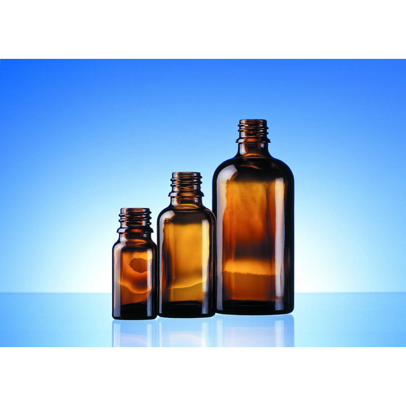Allround and dropper bottles made of moulded glass for pharmaceutical use