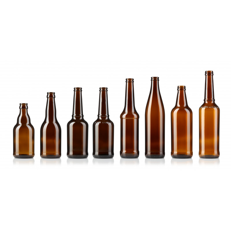 Beer bottles made of moulded glass (473ml)