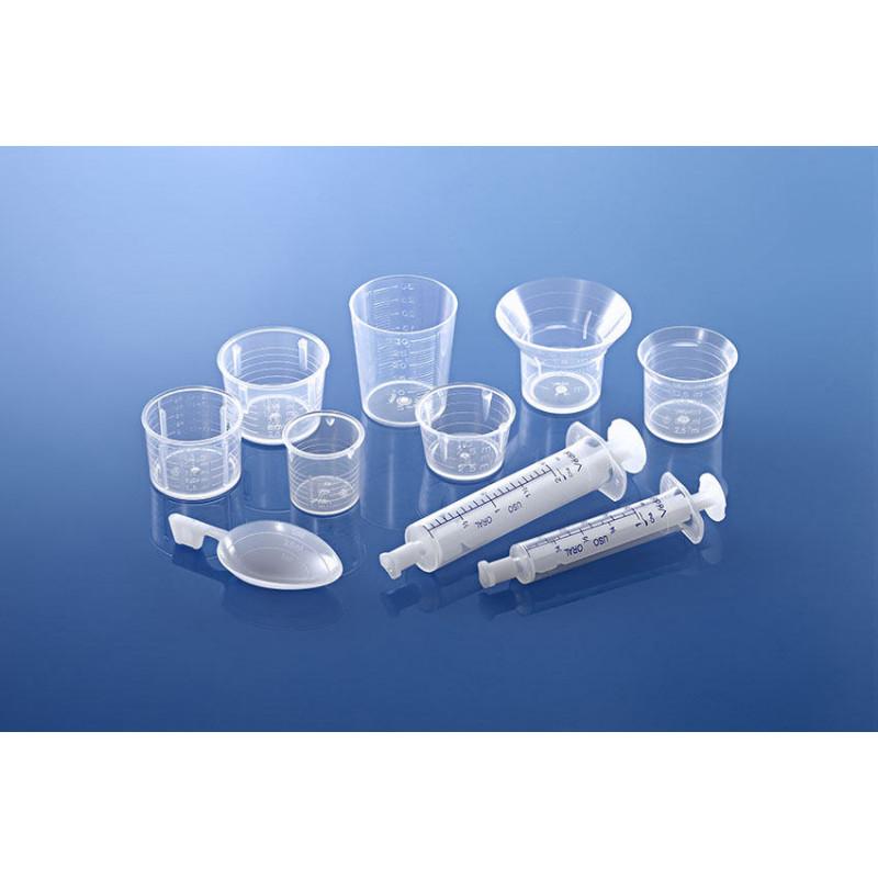 Seringa dosificadora para frascos plásticas para produtos farmacêuticos