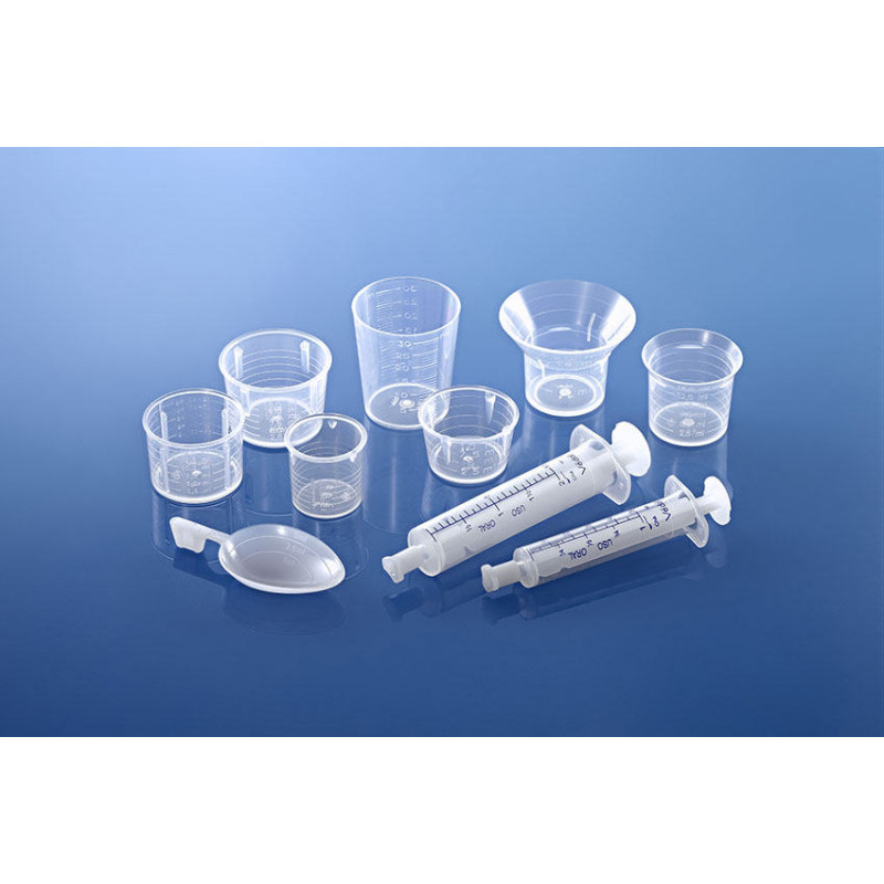 Vaso dosificador para packaging plástico farmacéutico