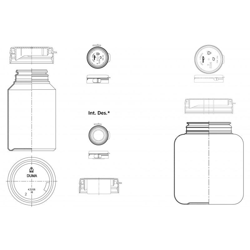 Drawing of Duma® Standard plastic cap