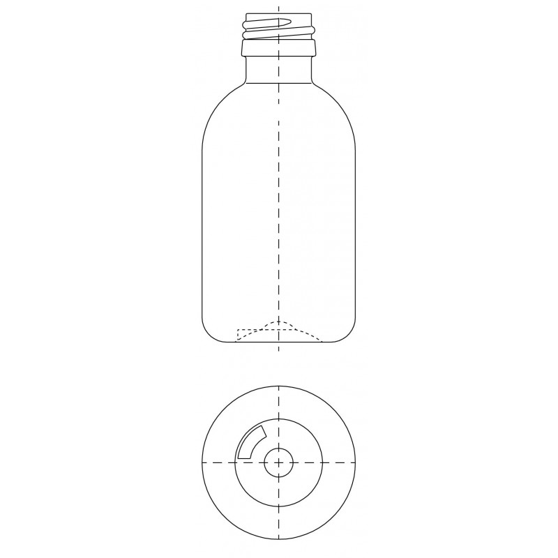 Drawing of ST bottle PP18 neck plastic cap