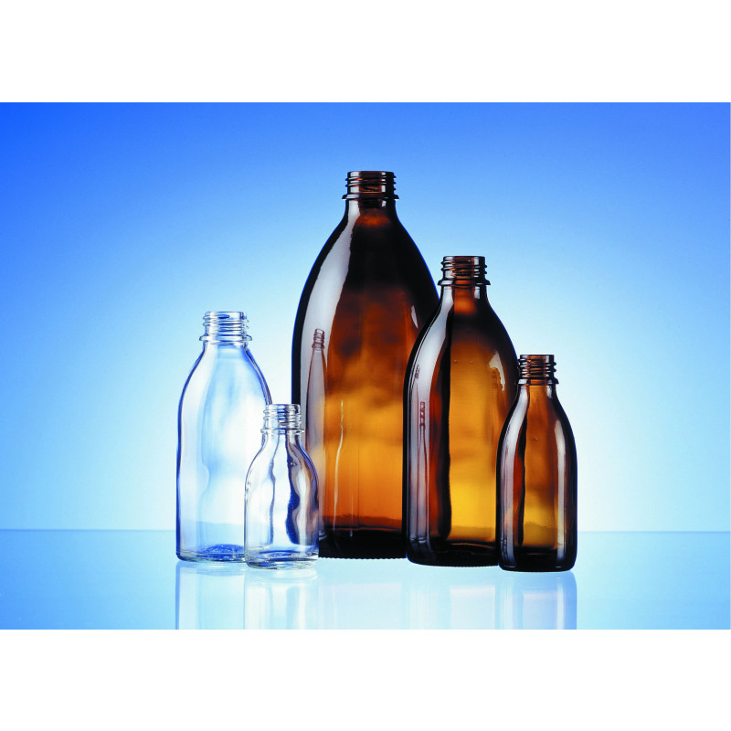 Syrup glass bottle EHV made of moulded glass for pharmaceutical use
