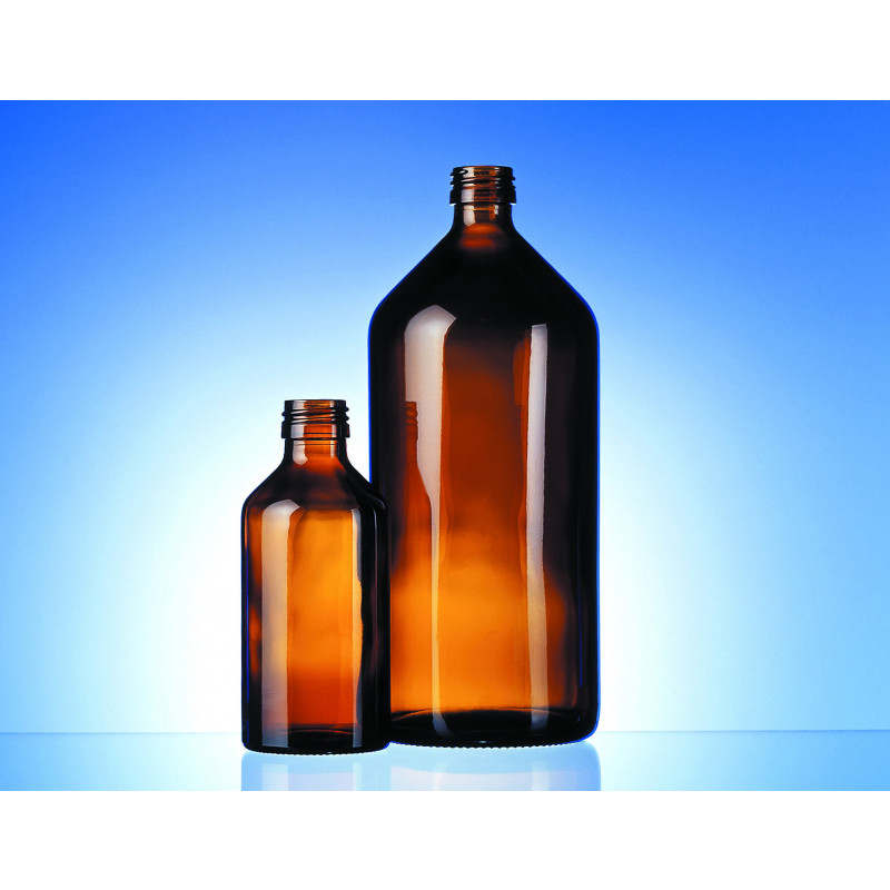 Syrup glass bottle Euro-med made of moulded glass for pharmaceutical use
