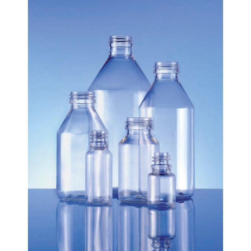 Frascos PET Leve, embalagens plásticas para produtos farmacêuticos (200ml)