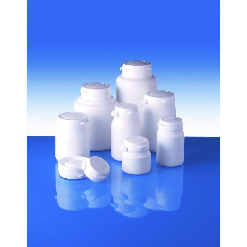 Frascos Polietileno TI 21 inviolavel, embalagens plásticas para produtos farmacêuticos (100ml)