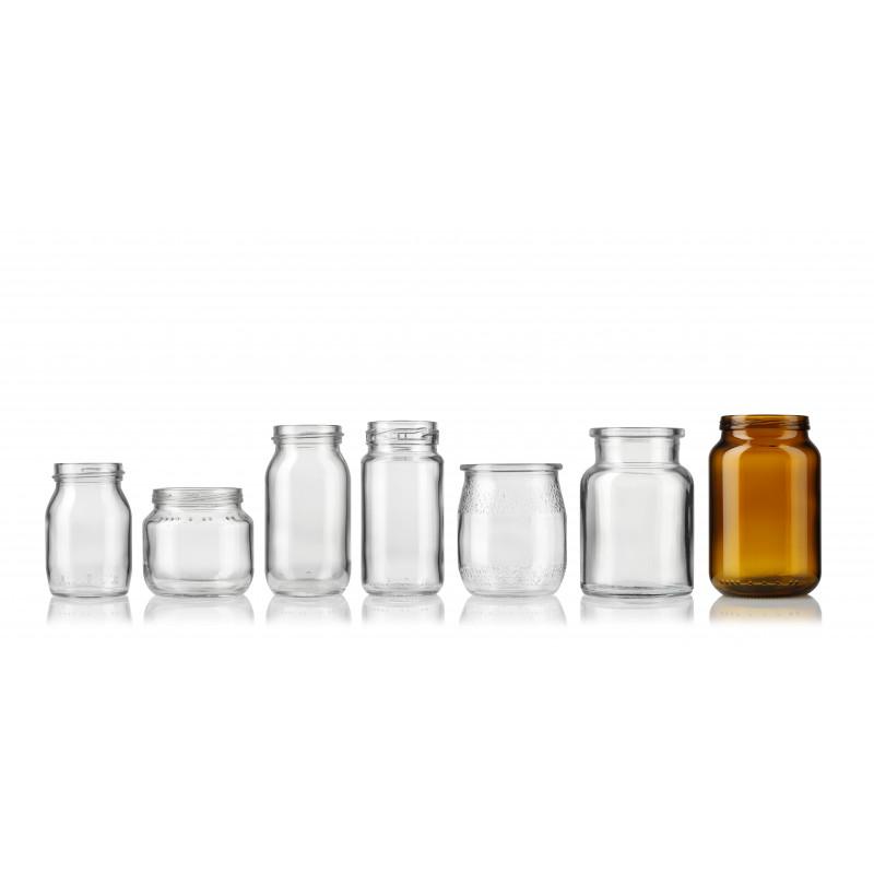 Glass jars for babyfood or others with flaring rim (100ml)