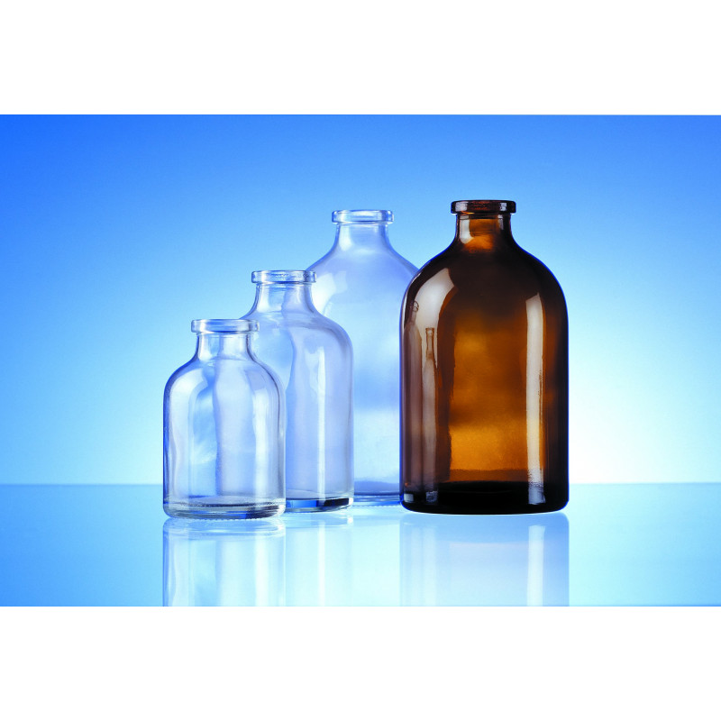 Injection bottles made of moulded glass for pharmaceutical use