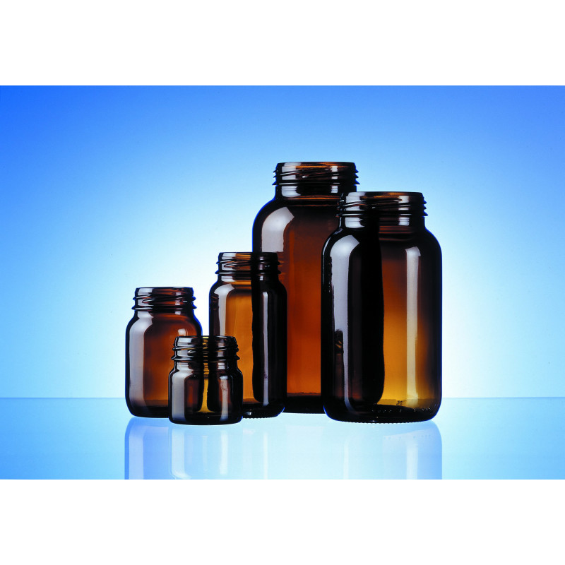 Tablet bottles made of moulded glass for pharmaceuticals and herbaceuticals