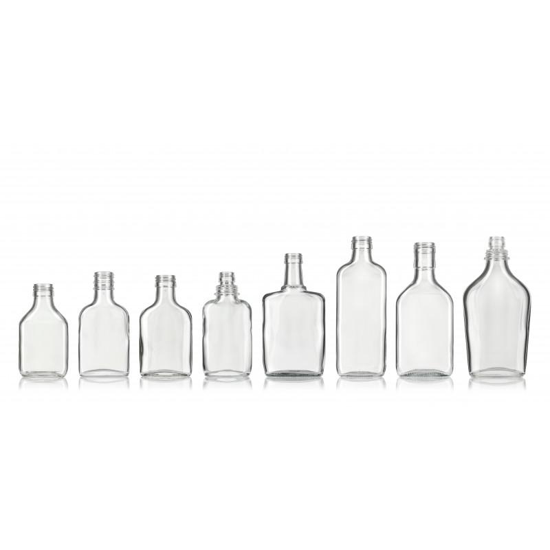 Pocket flasks made of moulded glass (100ml)