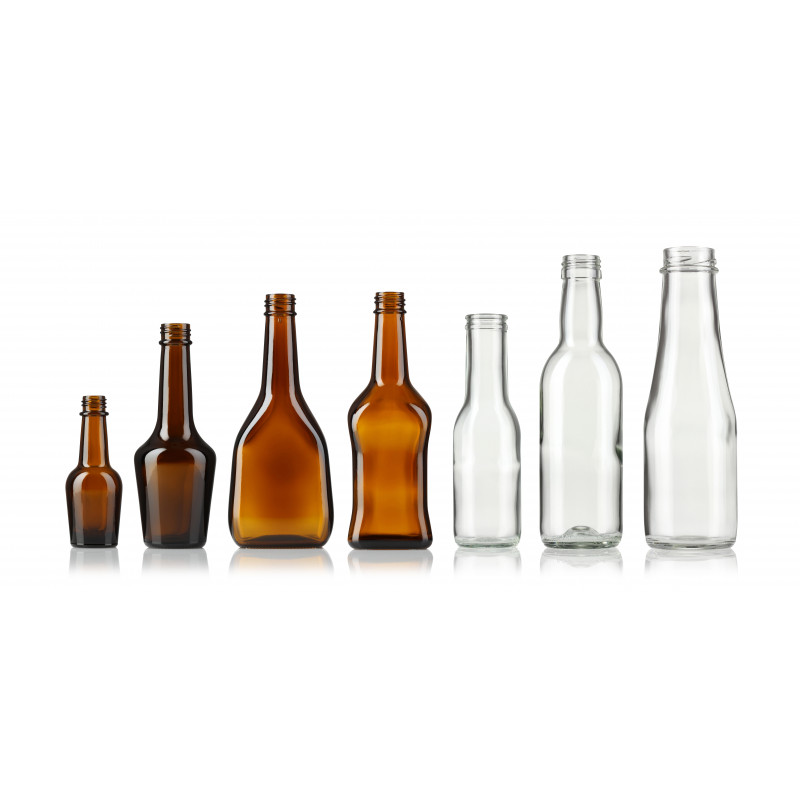 Spice and sauce bottles made of moulded glass (200ml)