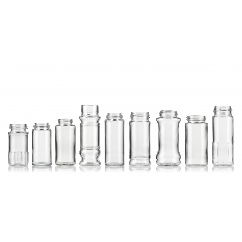 Spice jars made of moulded glass (55ml)