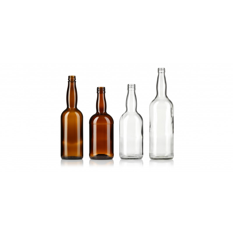 Spirit bottles made of moulded glass (1000ml)