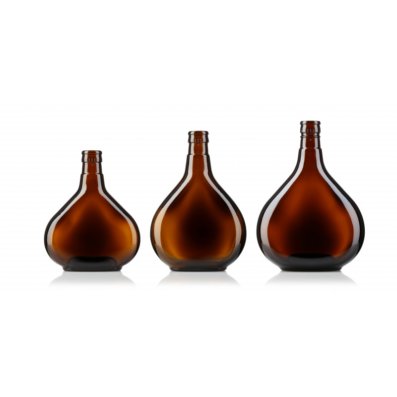 Spirit bottles made of moulded glass (500ml)